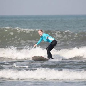 women's solo travel surf story