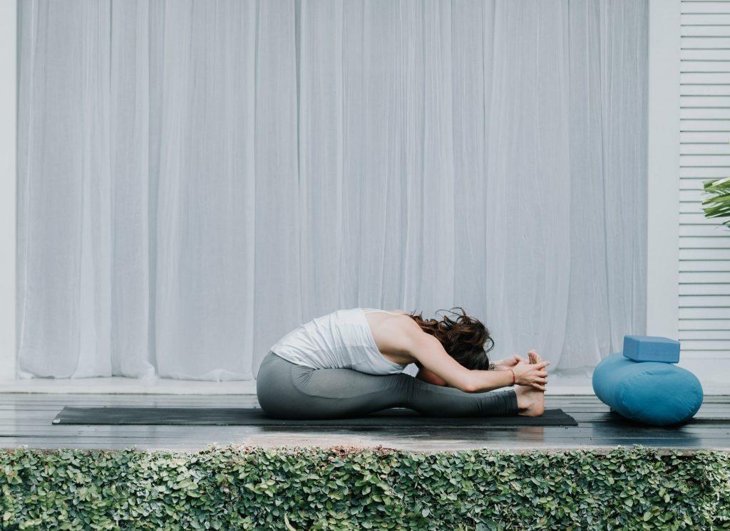 Bali Yoga Retreats yoga flow for reducing anxiety forward seat fold