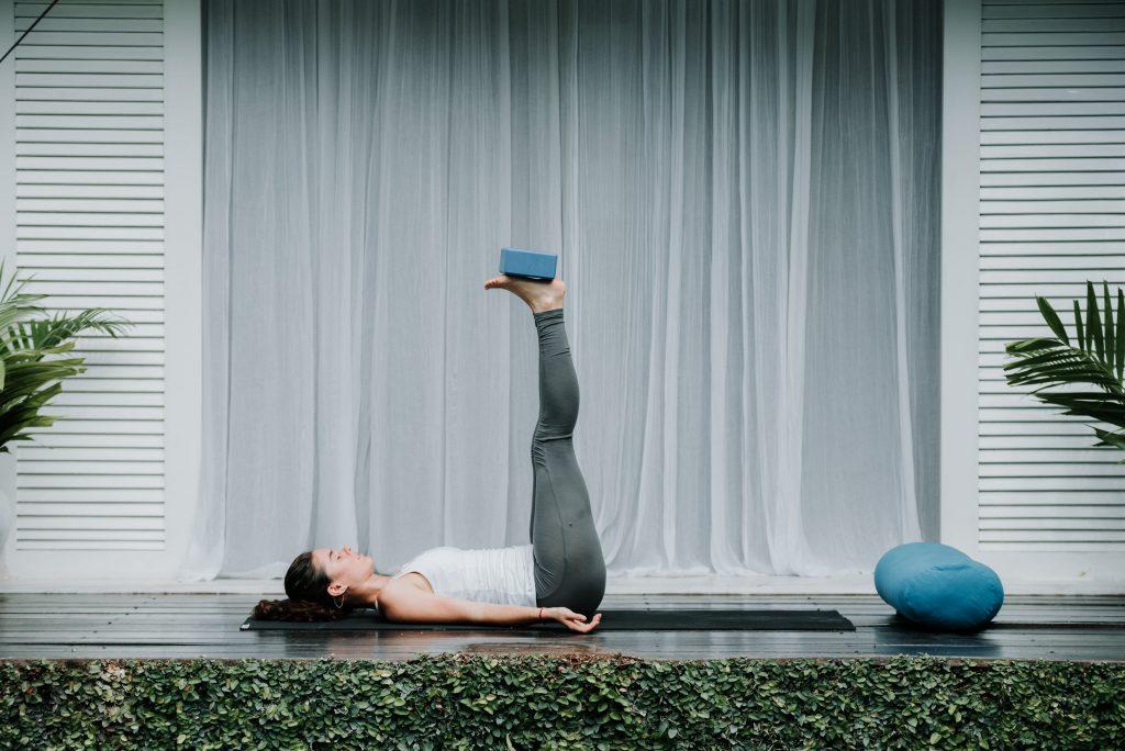 3.Viparita Karani yoga for insomnia (Legs on a Wall Pose)