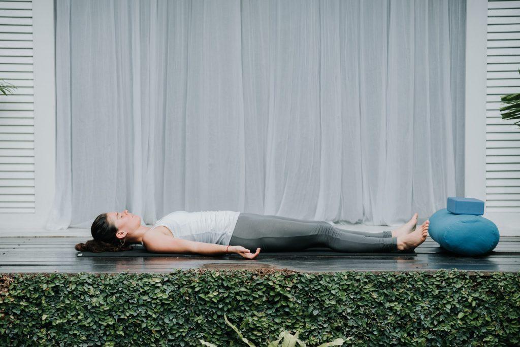 4. Savasana & Brahmari yoga for insomnia (Corpse Pose &Humming Bee Breath)
